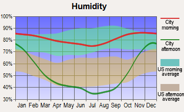 Trout Lake, Washington humidity