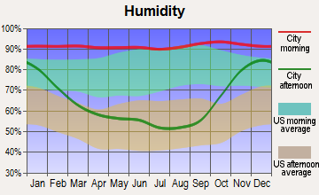 Montesano, Washington humidity