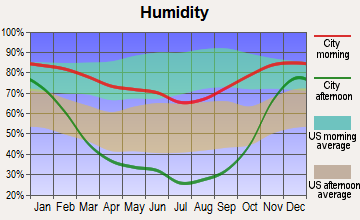 Moses Lake, Washington humidity