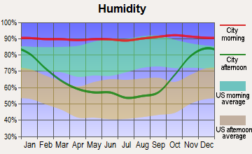 Samish, Washington humidity