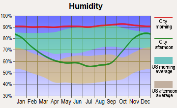 Swinomish Reservation, Washington humidity