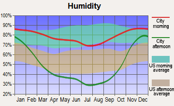 Pateros, Washington humidity