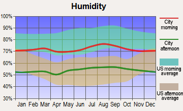 East Imperial, California humidity