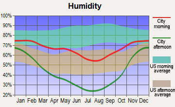 Kemmerer, Wyoming humidity