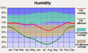 Reliance, Wyoming humidity