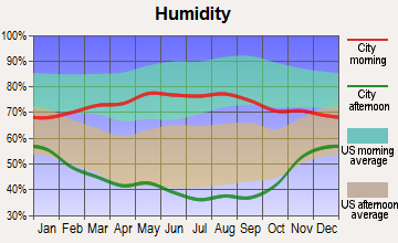 South Greeley, Wyoming humidity