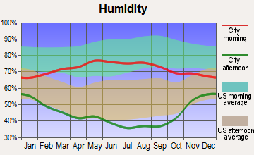 Wheatland, Wyoming humidity