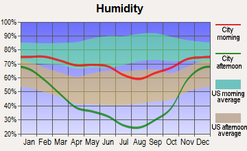 Wilson, Wyoming humidity