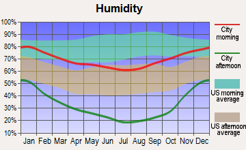 East Sierra, California humidity