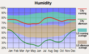 Arboles, Colorado humidity