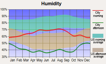 Central City, Colorado humidity