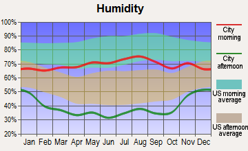 Cimarron Hills, Colorado humidity