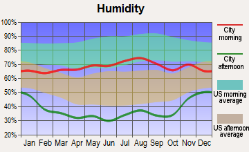 Coal Creek, Colorado humidity