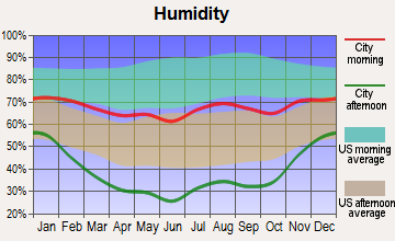 Crested Butte, Colorado humidity