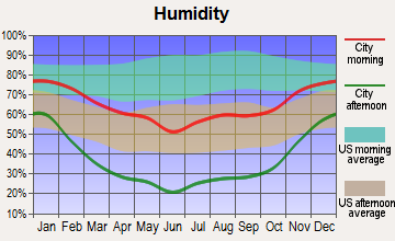 Dove Creek, Colorado humidity