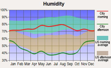 Kit Carson, Colorado humidity