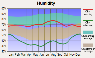 Poncha Springs, Colorado humidity