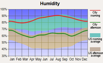 Tuscumbia, Alabama humidity