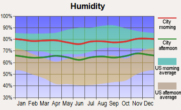 Waimea, Hawaii humidity