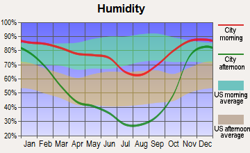 Coeur d'Alene, Idaho humidity