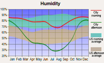 Elk River, Idaho humidity