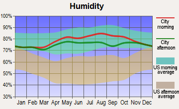 Kivalina, Alaska humidity