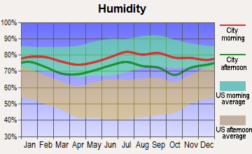 Larsen Bay, Alaska humidity