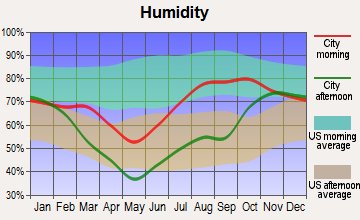 Moose Creek, Alaska humidity