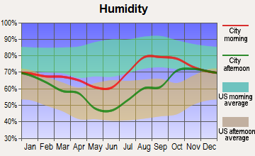 Tanana, Alaska humidity