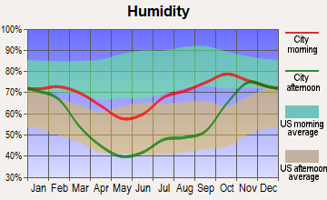 Willow Creek, Alaska humidity