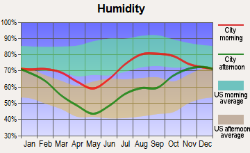 Cantwell, Alaska humidity