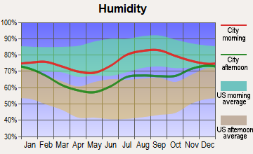 Clam Gulch, Alaska humidity