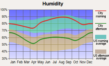 Jeffersonville, Kentucky humidity