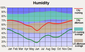 Page, Arizona humidity