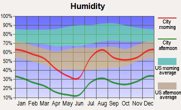 Pima, Arizona humidity