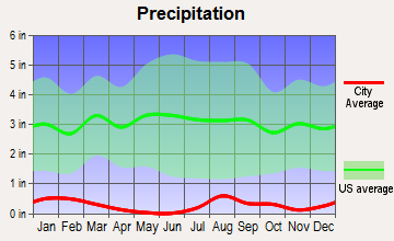 Quartzsite, Arizona average precipitation