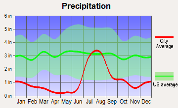St. David, Arizona average precipitation