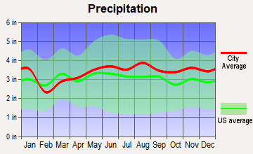Dyer Brook, Maine average precipitation