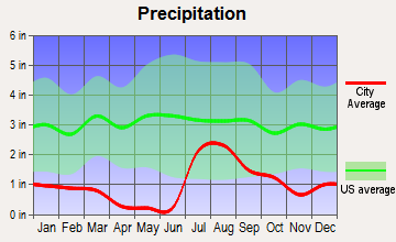 Summit, Arizona average precipitation