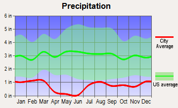 Sun City, Arizona average precipitation