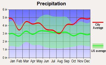 Whiting, Maine average precipitation