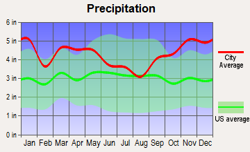 Addison, Maine average precipitation
