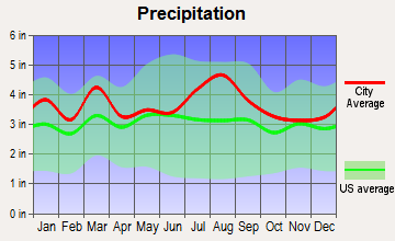 Deal Island, Maryland average precipitation
