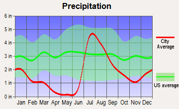 Bisbee, Arizona average precipitation