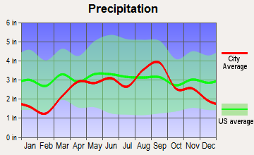 Hemlock, Michigan average precipitation
