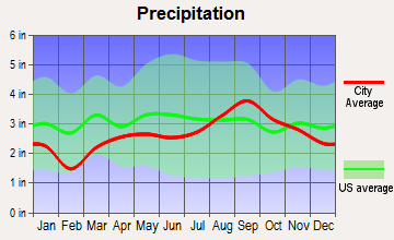 Alanson, Michigan average precipitation