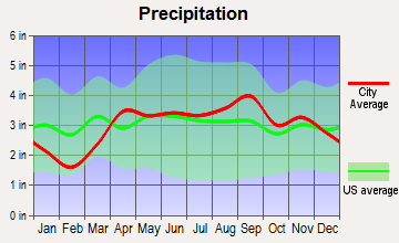 Watervliet, Michigan average precipitation