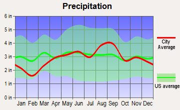 Saranac, Michigan average precipitation