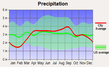 Springfield, Michigan average precipitation