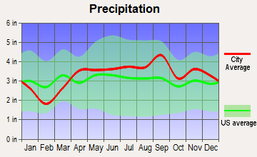 Paw Paw, Michigan average precipitation